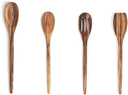 Ironwood Gourmet Acacia Wood Kitchen Utensil Set Spatula Slotted Long and Regular Spoon 4 Piece product image