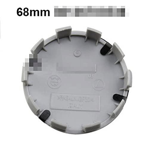 GAOJIA 4pcs 68mm 36136783536 CAPULAS DE Corte DE LA Rueda del Copo Capas DE Llamadas Cubiertas Emblema Compatible con BMW E90 F10 F30 E60 E92 X1 X3 X4 X5 E61 E93 E63 F01 (Color : Black White)