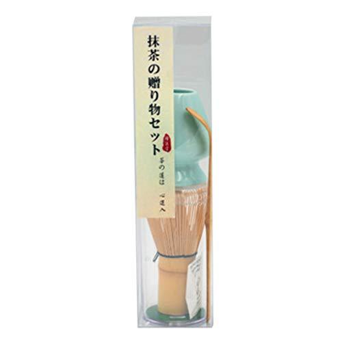 GROOMY Polvo de Matcha, Kit de Matcha japonés, licuadora Tradicional de bambú Matcha, Cuchara de té y Estante.-Mei Ziqing