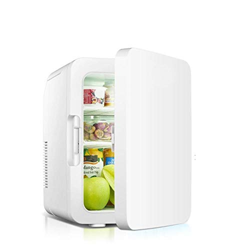 XTBB Mini-Autokompressor Kühlschrank10L Mini-Kühlschrank Auto Portable Kühlschrank Kühler Heizung Kleine Gefriertruhe Auto Home Sommer Lagerung Eisbox mit Griff Weiß