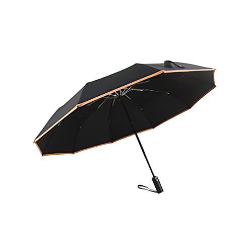 24580. Ombrello antivento automatico, 10 potenti ombrelloni da golf, ombrelloni da esterno pieghevoli, ombrelloni di protezione UV, ombrelloni da viaggio da 41,3 pollici con apertura e chiusura automa