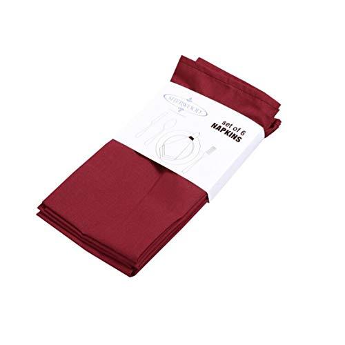 """Sherwood poliéster algodón servilletas de cena 15""""X 15"""" (40x 40cm) lavanda resistente calidad de hotel Mantel para Hotel, Restaurante, de acción de gracias, boda juego de 12 granate"""