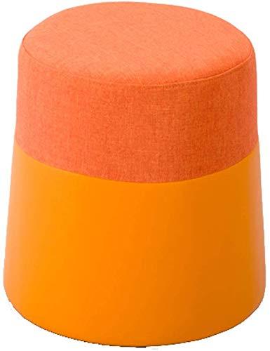 YLCJ ronde sofaank, kruk, pleisters van waterstof, salontafel en stoelen gemaakt van massief hout, gevoerde voetensteun, kleur: groen materiaal Assorted Orange