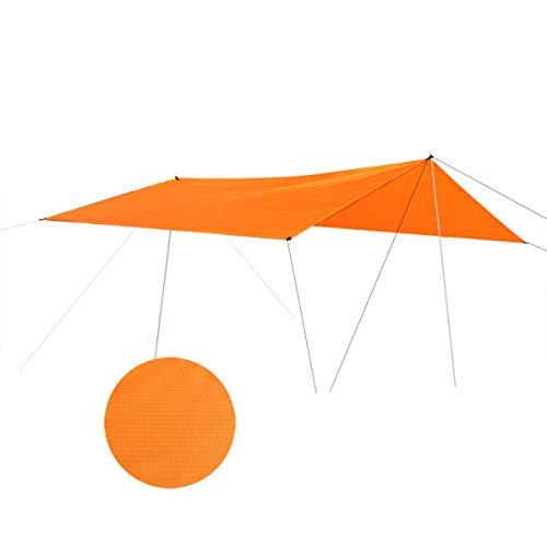 SOONHUA Tente de Bâche Tente Imperméable de Camping Abri de Soleil de Plage Tente Extérieure Bâche de Pluie Tapis de Pique-Nique Abri de Survie Parasol Adapté pour 5-8 Personnes