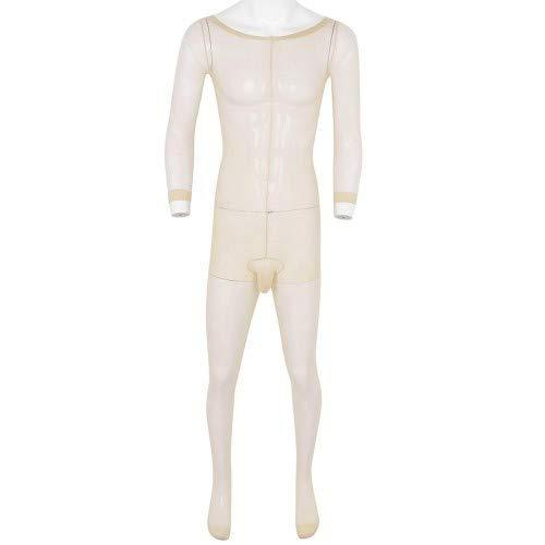 Ganzkörper Strumpfhose für den Mann Bodysuit Nylon Schwarz Farbe Nude
