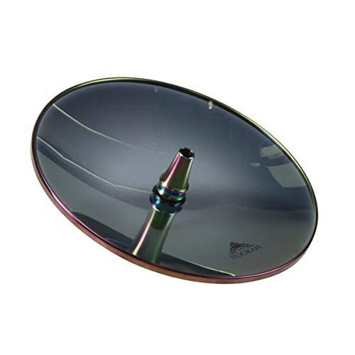 THE HOOKAH- Glaskohleteller Rainbow Spezial 26cm Borosilikatglas Glasteller Kohleteller 18/8 Ring Hitzebeständig Robust Shisha Zubehör Wasserpfeife