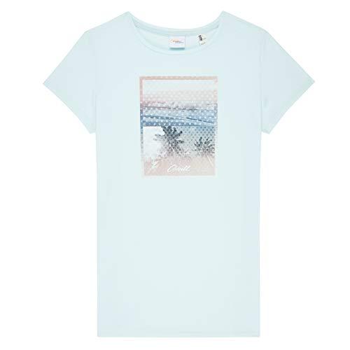 O'NEILL LW Palm Photo Print Camiseta Manga Corta, Mujer, Azul (Water), M