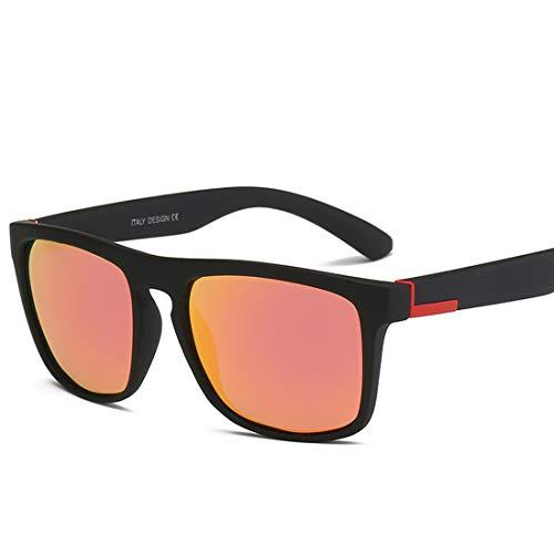 MIMIOOORE Clásica Forma Cuadrada con Borde de Gafas de Sol Deportivas de la protección UV400 de conducción de Ciclo de reproducción (Color : Red Black)