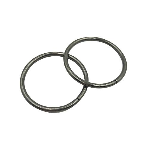 50 Pcs Gunblack Assorted Multi-Purpose Metal O Ring for Hardware Bags Ring Hand DIY Accessories - 15mm, 20mm, 25mm, 32mm, 38mm (25mm) Q1829