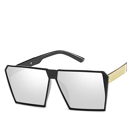 TYJYY Sunglasses Lunettes De Soleil Hommes/Femmes Marque Designer Cadre Carré Lunettes De Protection Homme Lunettes De Soleil Hommes Rétro Pas Cher
