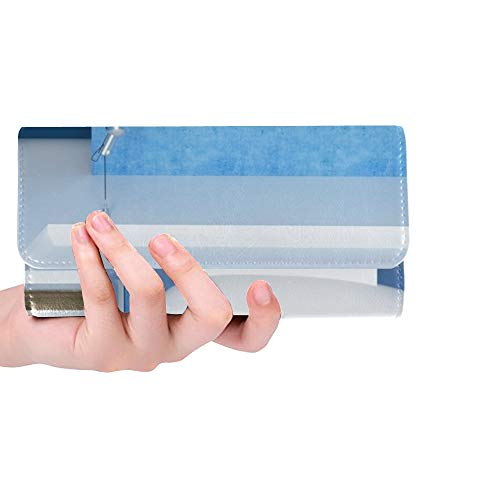 Einzigartige Benutzerdefinierte Blau Badezimmer Mode Badewanne Doppel Dusche Frauen Trifold Wallet Lange Geldbörse Kreditkarteninhaber Fall Handtasche