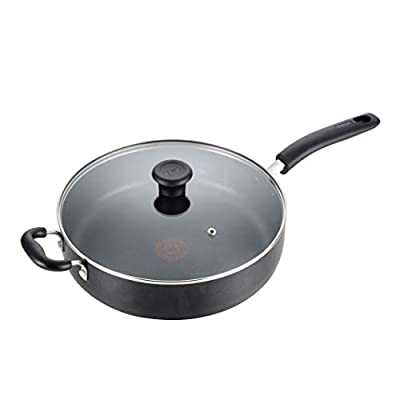 T-fal B36290 Specialty Nonstick 5 Qt. Jumbo Cooker Saut? Pan with Glass Lid, Black