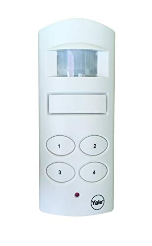Yale Wireless Shed and Garage Alarm, Free-Standing or Wall-Mounted, 4 Digit Pin-Code, Battery-Powered, Motion Detection, 100dB Siren, Easily Secure Outside Buildings and Caravans