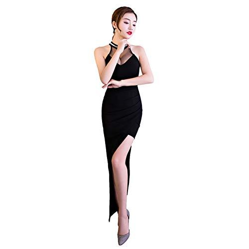 BINGQZ Jurk/Cocktail Jurken/Casual Avondjurk vrouwelijke temperament nachtclub opknoping nek kleine jurk rok auto model nacht kan worden gedragen