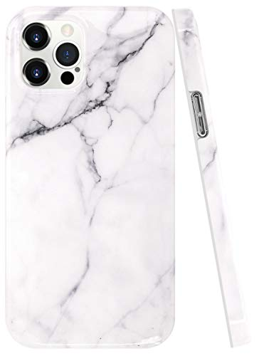 A-Focus Case for iPhone 12 5G Marble Case, iPhone 12 Pro Case, Crack Stone Rock Smooth IMD Protective Flexible Soft Slim TPU Silicone Cover Case for iPhone 12 Pro/iPhone 12 6.1 inch Glossy Gray 2
