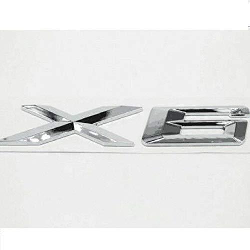 Stemma bagagliaio auto lettera X1 X3 X5 X6 GT emblema posteriore 3D decalcomania