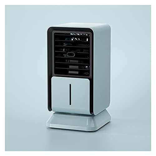 llsdls Unidad De Aire Acondicionado para El Hogar, Humidificador Personal Portátil, Enfriador De Aire Mini Refrigerado por Agua, Ventilador De Escritorio para Dormitorio (Color : Blue)