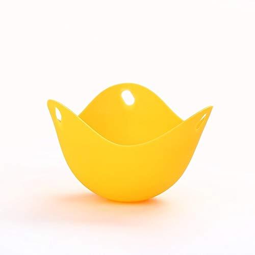 LESLEY por LM 3 Herramientas PCS de Silicona for cocinar Huevos Huevo Soporte de Cocina Utensilios for Hornear de la Crepe de Vapor Huevos Placa Bandeja Amarillo 2021 Nuevo uno