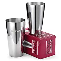 shaker cocktail, boston shaker in acciaio inox, 25oz & 22oz professionale martini shaker cocktail,boston cocktail set acciaio inossidabile robusto durevole cocktail shaker bar home kitchen tool