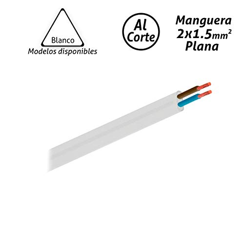 Manguera eléctrica plana blanca 2x1,5mm2