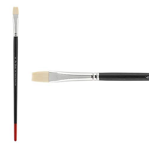 Creative Mark Pro Stroke Powercryl Paint Brush Professional Acrylic Brush with Synthetic Hair Filament Use with Acrylic Paint and Water Soluble Oils - Single Brush Only - Bright 6