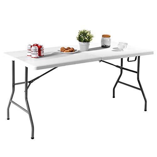 COSTWAY Klapptisch Campingtisch Biertisch Koffertisch Esstisch Tisch klappbar Gartentisch Balkontisch (M)