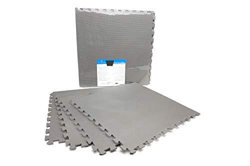 Alfombrillas De Espuma - 4 Pcs - Puzzle Suelo - Goma eva - 60x60cm (Gris)