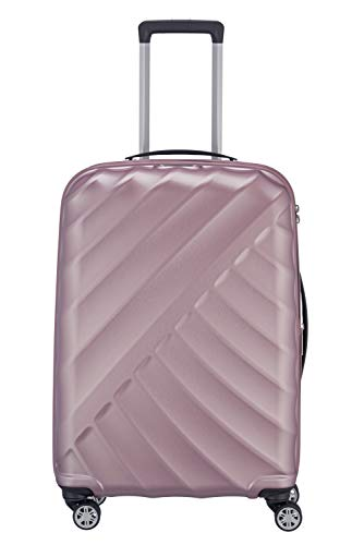 "TITAN ""SHOOTING STAR"" von TITAN®: Robuste Hartschalen-Trolleys in coolem Metallic-Look in 4 Trendfarben Koffer, 66 cm, 70L, Rose"