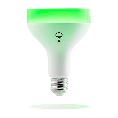 LIFX + 1100-Lumen BR30 Smart LED Light Bulb with Infrared (LHB30E26UC10P) Multi Colored - 17W - New