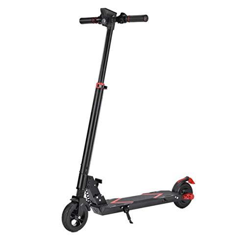 LJP Scooter Electrico Rango De 18 KM Neumáticos Sólidos De 6.5' Plegables Patinetes Eléctricos 7.5 Kg para Niños Adultos