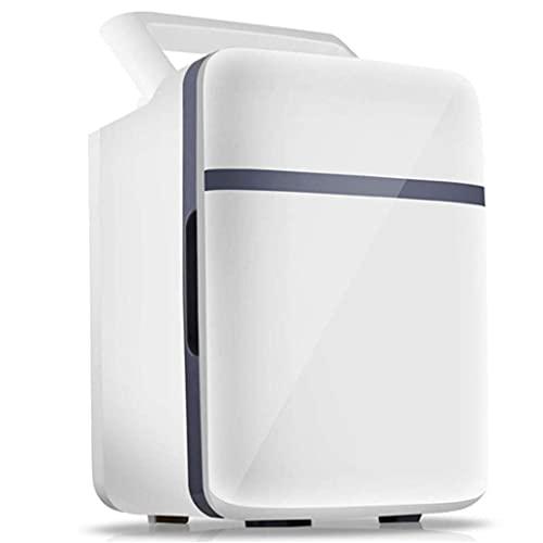 Pkfinrd Mini Frigorífico Mini Frigorífico 10 L Refrigerador eléctrico y cálido, Cable de alimentación CA y DC Refrigerador Compacto portátil con estantes Ajustables para hogar, Oficina, Dormitorio