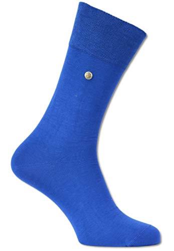 Carlo Colucci Socke ?FIRENZE? aus merzerisierter Baumwolle mit Niete, Royalblau Royalblau 39-40