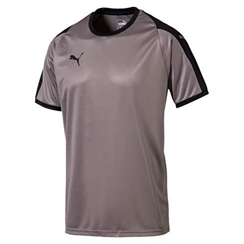 PUMA Liga - Camiseta para Hombre, Otoño-Invierno, Liga, Hombre, Color Gris y Negro, tamaño XXX-Large