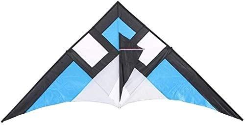 Yppss Bunte Drachen Kinder Erwachsene Delta-Form Triangle Fly Kite Flyer Große Single Line Lenkdrachen for Strand-Ferien-Familien-Spaß mit String Eternal (Color : Blue, Size : 290x135cm)