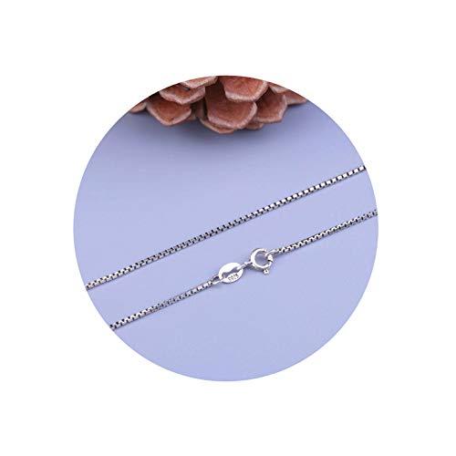 Aeici Collar Mujer Vintage Cadena Rolo Collar Mujer Plata de Ley Plata Largo 45 Cm
