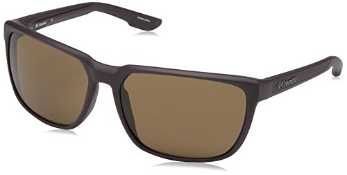 Columbia Gafas de sol rectangulares Trail Warrior para hombres, New Cinder mate, 60 mm