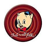 """LOONEY TUNES THAT'S ALL FOLKS! BUTTON - American Animated Comedy Short Film Looney Tunes Premium Artwork Button - 1.25"""""""