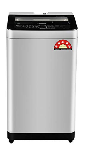 Panasonic 7.5 Kg 5 Star Built-In Heater Fully-Automatic Top Loading Washing Machine (NA-F75BH9MRB, Middle Free Silver, Active Foam System)