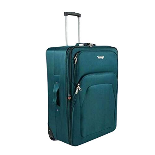 Super Lightweight Durable Hold Travel Luggage Trolley Suitcase (Petrol, 26)