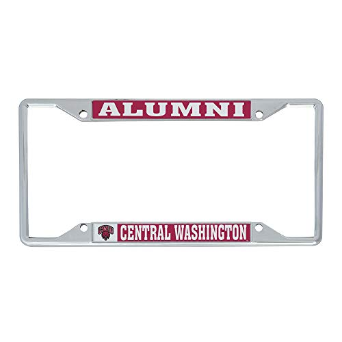 Desert Cactus Central Washington University CWU Wildcats NCAA Metal License Plate Frame for Front or Back of Car Officially Licensed (Alumni)