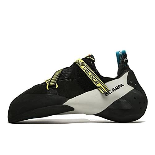 Scarpa Men's Veloce Climbing Shoes, Black-Yellow FKJ, 9.5 UK