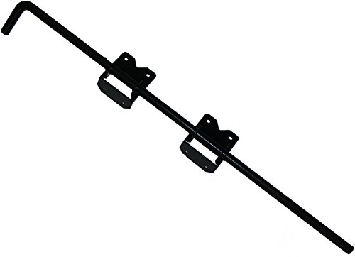 36' Vinyl Fence Gate Drop Rod (Black) - AKA Gate Drop Pin, Cane Bolt - Drop Rods for Securing One of The Double Gates to The Ground so The Other can be Latched to it - Powder Coated Gate Hardware