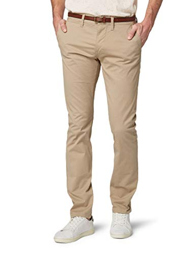 TOM TAILOR Herren Essential Chino Solid Hose, Braun (Chinchilla 11018), 36W / 34L