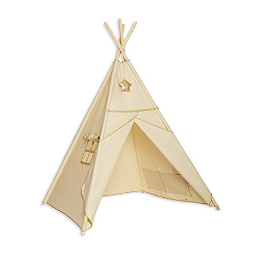 Fun with mum TEE-Ten-GOL-ECR Teepee Tent Gold Ecru