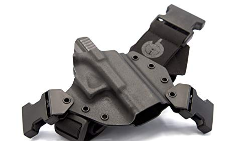 GunfightersINC Kenai Chest Holster for a Glock 17/19/22/23/31/32, Fits All Gen's, MOS Open, Right Hand,Black-Black