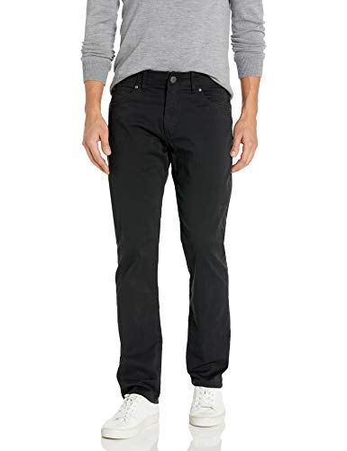 LEE Men's Performance Series Extreme Motion Straight Fit Tapered Leg Jean, Black, 34W x 30L
