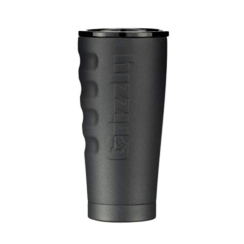 Grizzly Grip Cup 20 oz Tumbler, Stainless Steel, Vacuum Insulated with TwistTop Lid, Charcoal