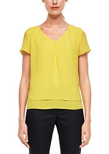 s.Oliver BLACK LABEL Damen 01.899.12.5102 Bluse, Yellow, 40