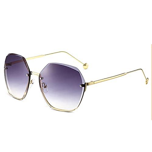 BEIAKE Gafas de sol deportivas para hombres y mujeres, sin marco, protección UV, adecuadas para ciclismo, correr, gafas de pesca, gris