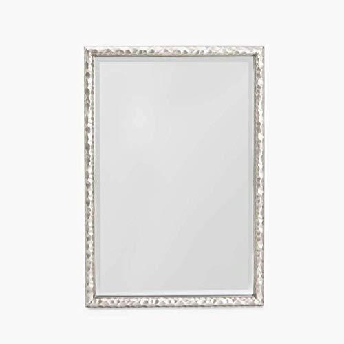 Household Necessities/badkamerspiegel reliëf spiegel omranding hout slaapkamer cosmeticaspiegel cosmeticaspiegel 45*65CM zilver.